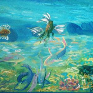 В кораллах