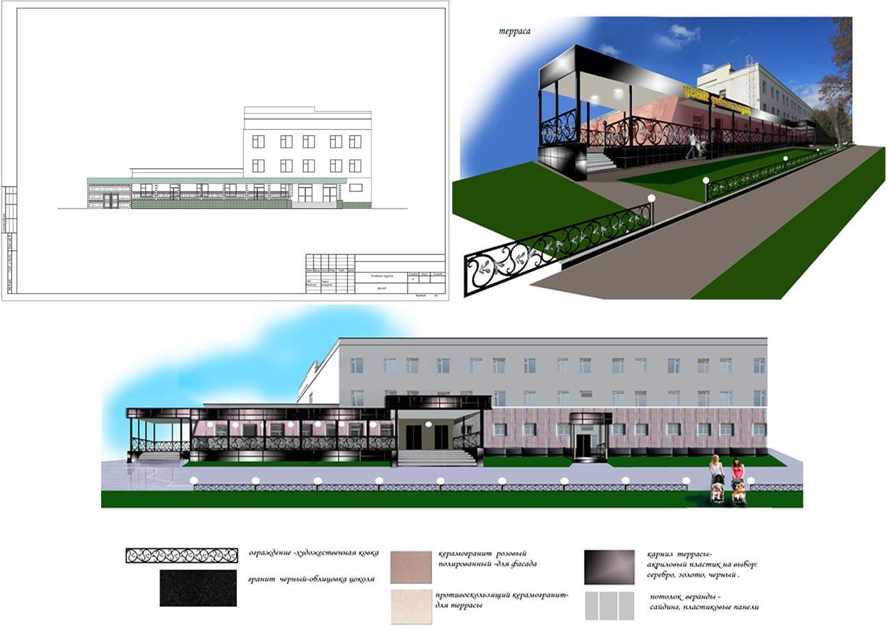 Дизайн-проект экстерьера здания